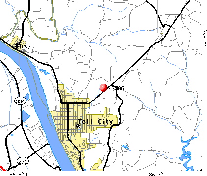 Tell City, IN (47586) map