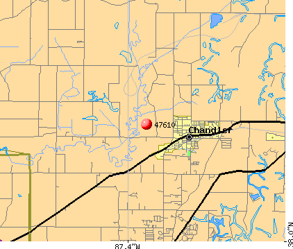 Chandler, IN (47610) map