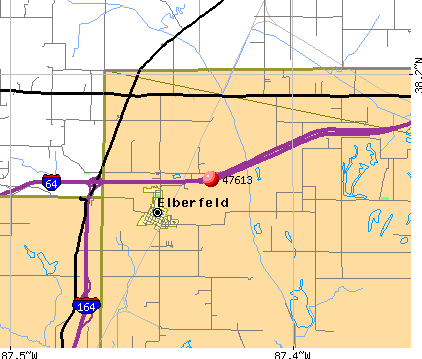 Elberfeld, IN (47613) map