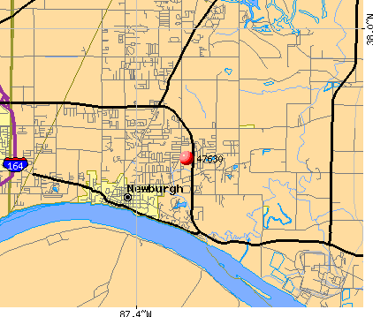 Newburgh, IN (47630) map