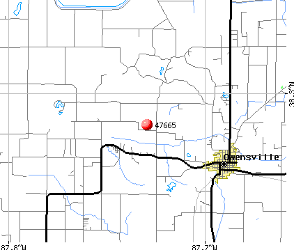 Owensville, IN (47665) map