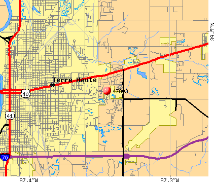 Terre Haute, IN (47803) map