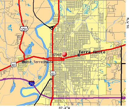 Terre Haute, IN (47807) map