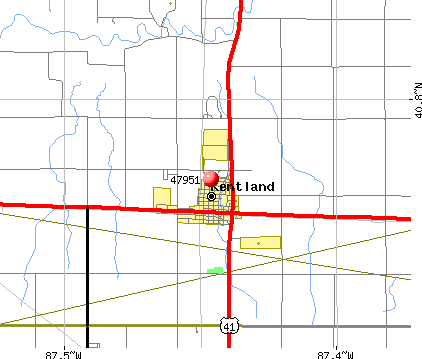 Kentland, IN (47951) map