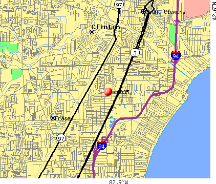 St. Clair Shores, MI (48035) map