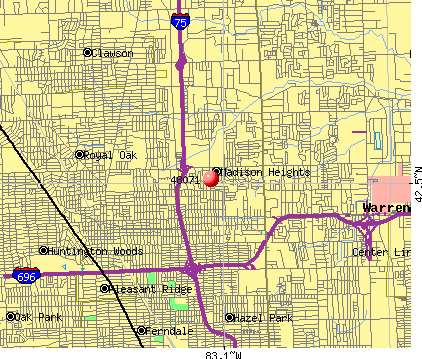 Madison Heights, MI (48071) map