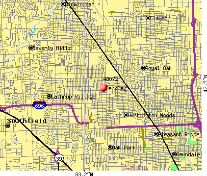 Berkley, MI (48072) map