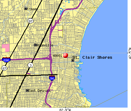 St. Clair Shores, MI (48081) map