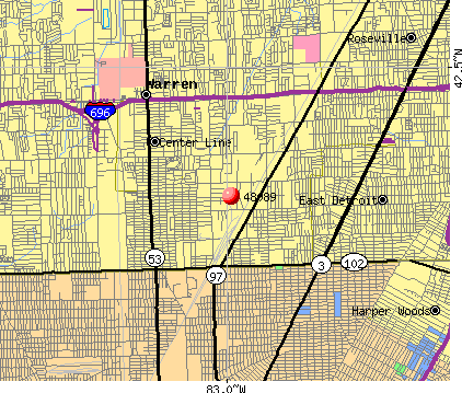 Warren, MI (48089) map