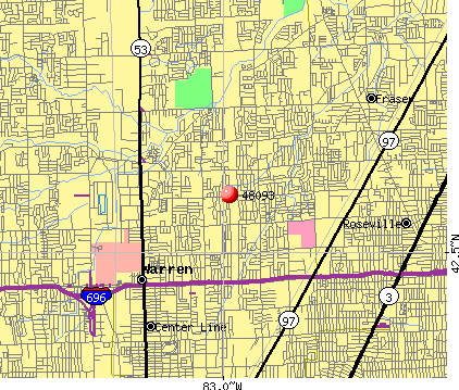 Warren, MI (48093) map