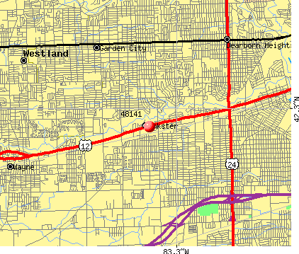 Inkster, MI (48141) map
