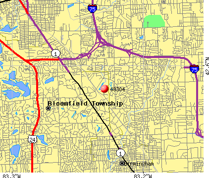Bloomfield Hills, MI (48304) map