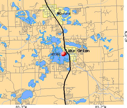 Lake Orion, MI (48362) map
