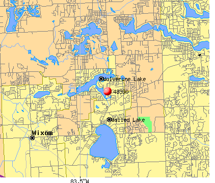 Walled Lake, MI (48390) map