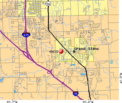 Grand Blanc, MI (48439) map