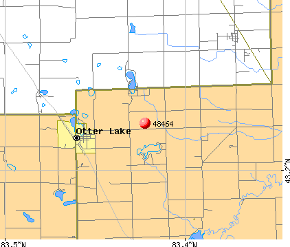 Otter Lake, MI (48464) map