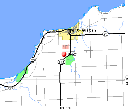 Port Austin, MI (48467) map