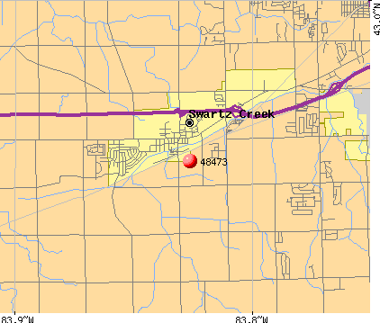Swartz Creek, MI (48473) map