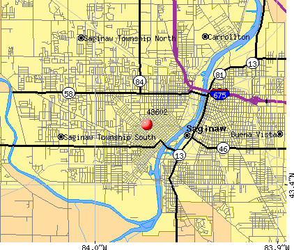 Saginaw, MI (48602) map