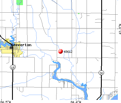 Beaverton, MI (48612) map