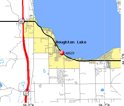 Houghton Lake, MI (48629) map