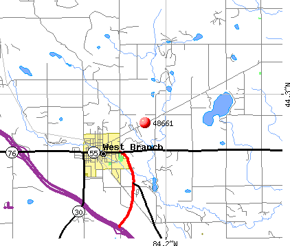 West Branch, MI (48661) map