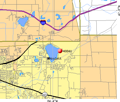 Haslett, MI (48840) map