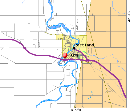 Portland, MI (48875) map