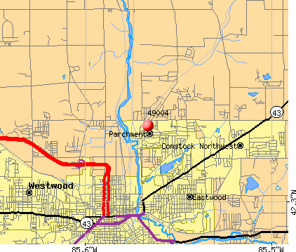 Kalamazoo, MI (49004) map