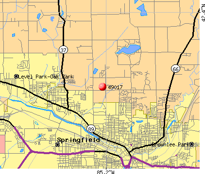 Battle Creek, MI (49017) map