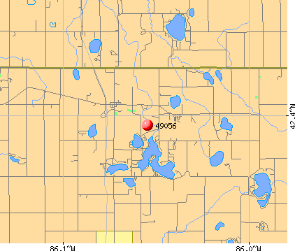 Breedsville, MI (49056) map