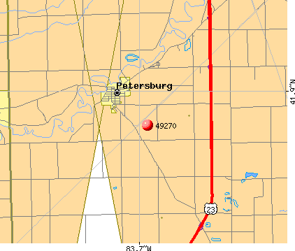 Petersburg, MI (49270) map