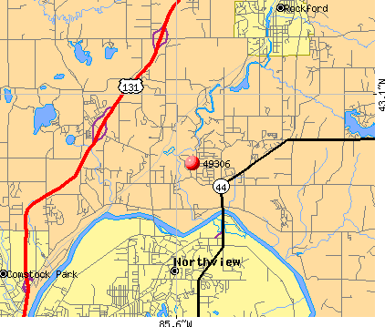 Northview, MI (49306) map