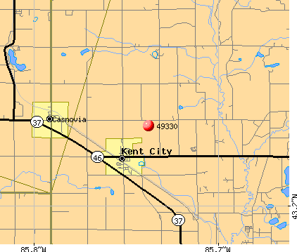 Kent City, MI (49330) map