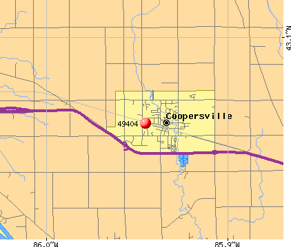 Coopersville, MI (49404) map