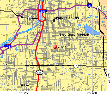 Grand Rapids, MI (49507) map