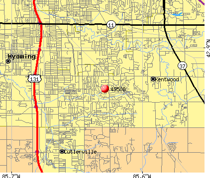 Kentwood, MI (49508) map