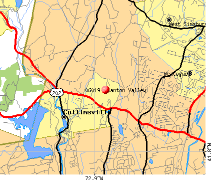 Collinsville, CT (06019) map