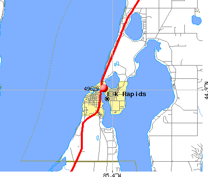 Elk Rapids, MI (49629) map