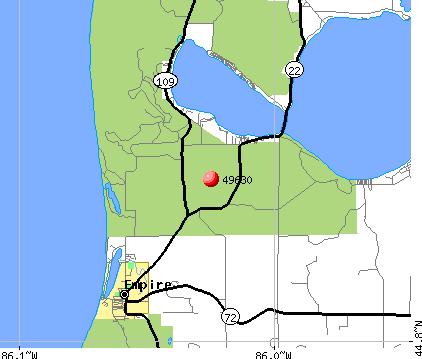 Empire, MI (49630) map