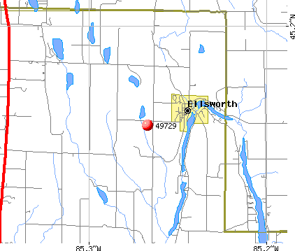 Ellsworth, MI (49729) map
