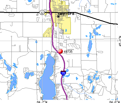 Gaylord, MI (49735) map