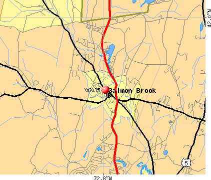 Salmon Brook, CT (06035) map