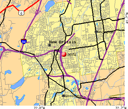 New Britain, CT (06051) map