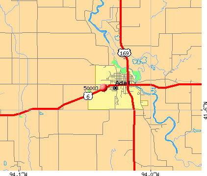 Adel, IA (50003) map