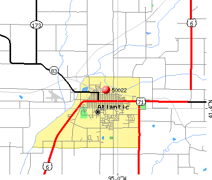 Atlantic, IA (50022) map