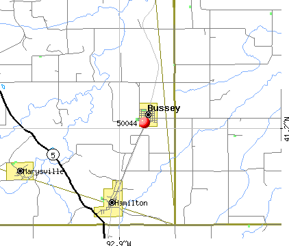 Bussey, IA (50044) map