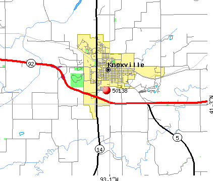 Knoxville, IA (50138) map