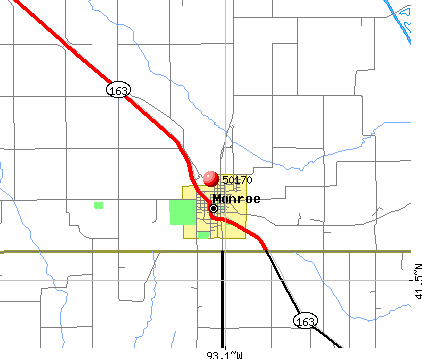 Monroe, IA (50170) map