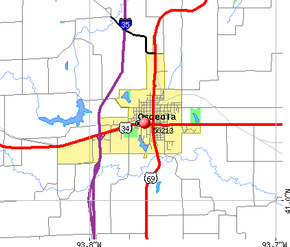 Osceola, IA (50213) map